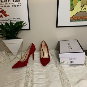 Nine West Red Pointed Toe Pumps